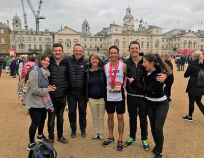 George Kershaw post run photo