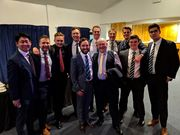 Swimmers at Sports Dinner   March 2019