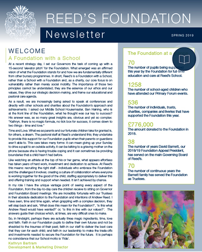 Foundation Newsletter Spring 2019 cover 2