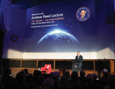 Headmaster, Mark Hoskins, at the Andrew Reed Lecture (Custom)