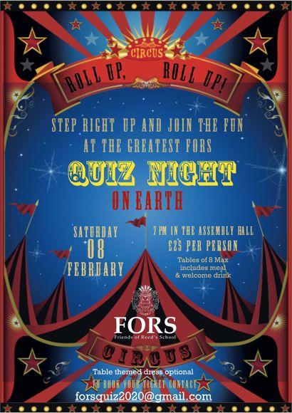 Quiz Night 2020 Circus Flyer