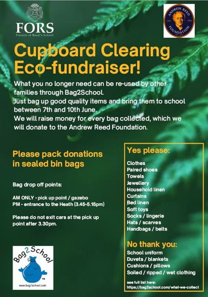FORS Cupboard clearing fundraiser MAY 2021