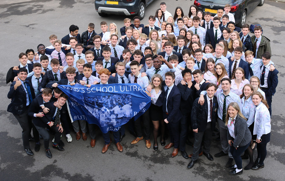 28   The Upper Sixth on the Last Day in School