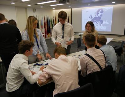 Business trip to european parliament