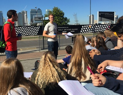 Lower sixth form visit to east london