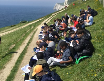 Third form visit to swanage bay