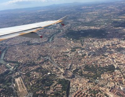Flying into Rome