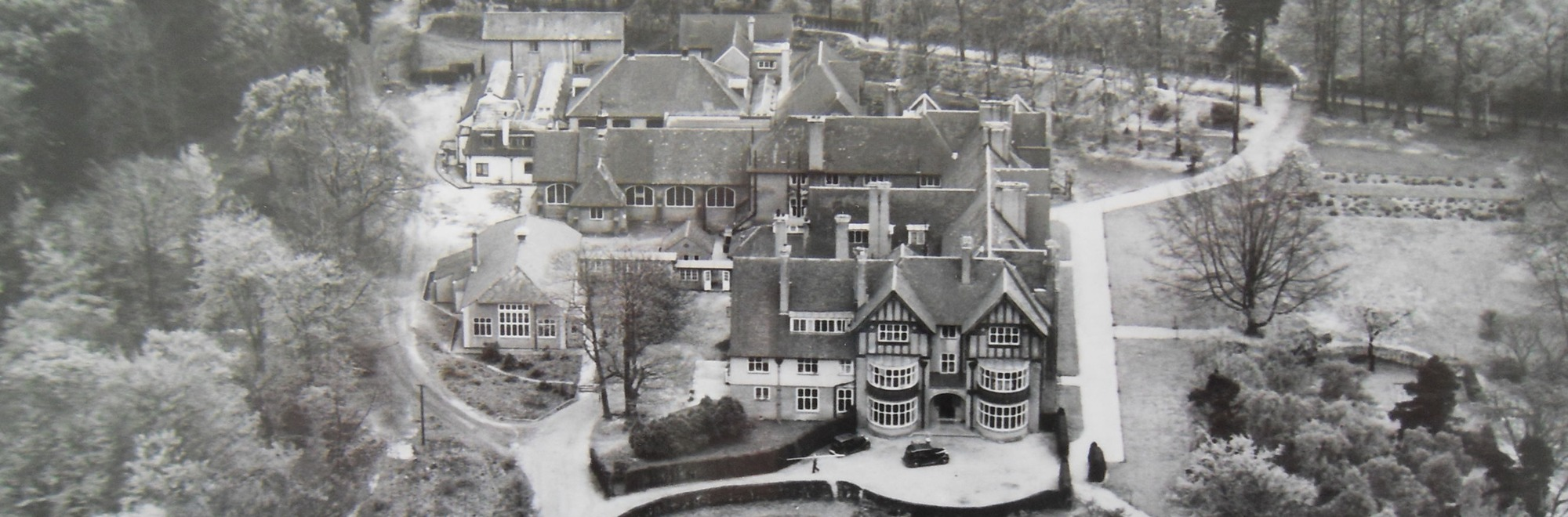Reed's School aerial photo late 1940s